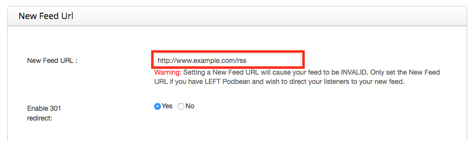 Change your podcast feed in iTunes: Podbean - New Feed URL