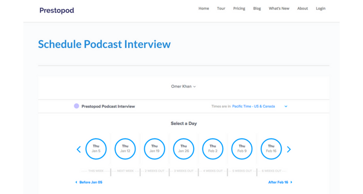 How to Schedule Podcast Interviews with Calendly